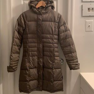 Form fitting Knee length Spiewak down coat plaid